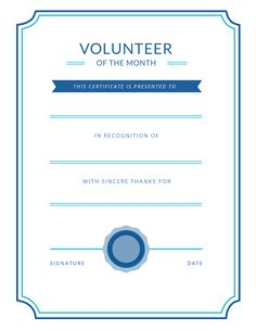 Free Volunteer Appreciation Certificates — SignUp.com
