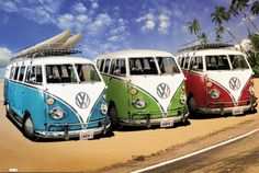 VW CAMPERS Poster at AllPosters.com || Save 30% here - http://www.studentrate.com/School/Deals/BackToSchool.aspx