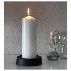 IKEA - FENOMEN Unscented block candle natural