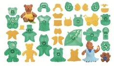 Dress-A-Teddy Cutter Set - By JEM. JEM Dress-A-Teddy 16 Piece Cutter Set. all JEM Cutters. The Ivory colour is intended to uniform the entire range of JEM cutters and also displays better intricate details on the cutters. Plastic Cutter, Cake Decorating, Home And Garden, Teddy Bear, Kids Rugs, Cut Outs, Dresses, Icing, Design
