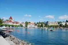 Evian les Bains, France...one of our stops as we drove around Lake Geneva, Switzerland/France. Where the Evian water comes from...