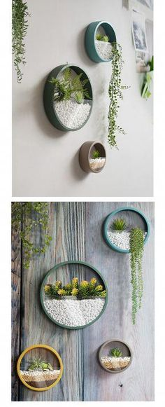 Round Wall Planter Geometric Wall Art #decoracionhogar