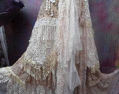 Wedding skirt ragged skirt Stevie-Nicks bohemian skirt boho skirt gypsy skirt layered look skirt OAK shabby wrap skirt you a wonderful Bohemian Skirt, Gypsy Skirt, Boho Skirts, Stevie Nicks, Böhmischer Rock, Look Rock, Gypsy Style, Boho Gypsy, Bohemian Style