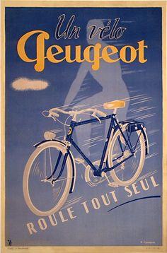 Un vélo Peugeot roule tout seul - 1946 -
