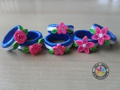 Napkin rings quilled