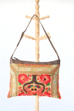 Large Tote Bag Cross Stitch Handbag Hill Tribe by ThaiHandbags, $299.99