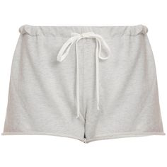 CLU Basic Jersey Shorts (935 ARS) ❤ liked on Polyvore featuring shorts, bottoms, short, clu, pull on shorts, cuffed shorts, elastic waistband shorts and jersey shorts