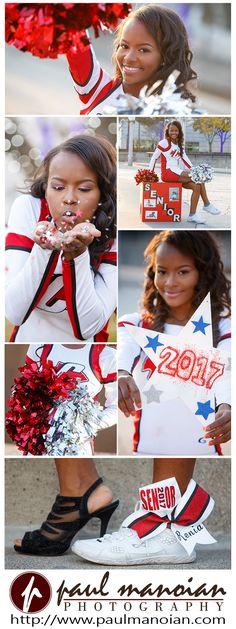 Cheerleading senior pictures pose ideas for girls #cheer #pompom - Detroit senior pictures photographer