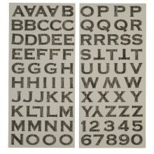 Recollections Scratched Metal Alphabet Stickers