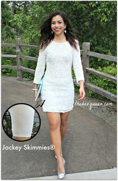 HOW TO WEAR A LITTLE WHITE DRESS & $100 JOCKEY SKIMMIES GIVEAWAY | The Box Queen #savedbyskimmies #whitedress