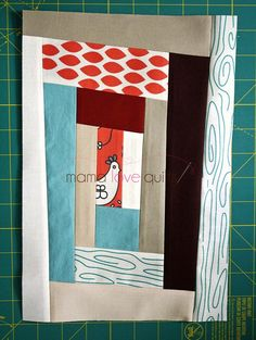 How to update the traditional log cabin block using improvisational piecing