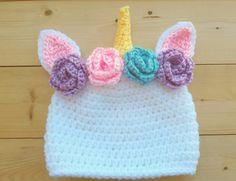 Unicorn Baby Hat - unicorn floral crown - baby unicorn outfit - unicorn baby gift - unicorn baby shower - unicorn photography prop