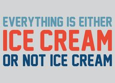 Everything Is Ice Cream Or Not Ice Cream T-Shirt | SnorgTees