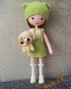 Knitted Dolls, Crochet Dolls, Crochet Hats, Amigurumi Doll, Amigurumi Patterns, Crochet Projects, Tatting, Doll Clothes, Teddy Bear
