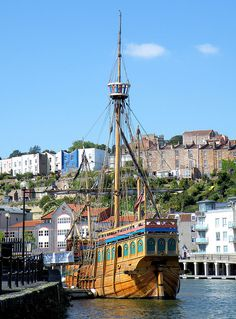 "Replica of the ""Matthew"", the ship in which John Cabot sailed to Newfoundland in 1497, Bristol"