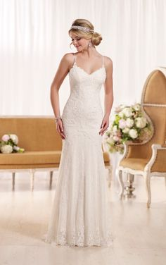 D1934 Sexy Lace Wedding Dress by Essense of Australia