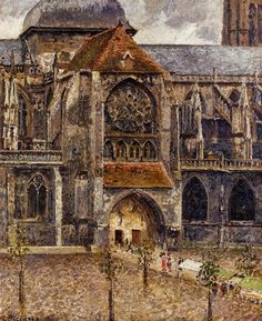 Camille Pissarro 1830 - 1903 Portal from the Abbey Church of Saint Laurent, 1901
