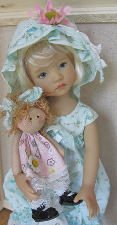 "Dress Set with 4"" Rag Dolly for Little Darling's by Dianna Effner Made by DCH 