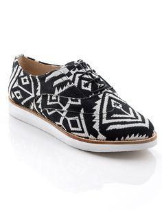 Tribal Print Oxfords