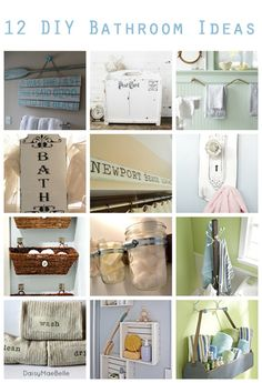 12 DIY Bathroom Ideas @Vanessa Mayhew & CraftGossip