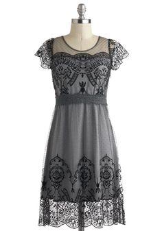 Grace Gardens Dress in Slate Grey.