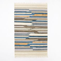Mixed Stripe Wool Dhurrie | west elm