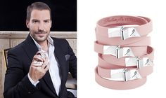 Dukas and his bracelet for the Estee Lauder Campain Pink Ribbon 2015