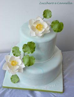 Lotus Cake Wedding Cake Designs, Wedding Cake Toppers, Wedding Cakes, Zen Wedding, Wedding Ideas, 80th Birthday, Birthday Ideas, Lotus Cake, Fondant