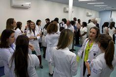 Confraternização dos pediatras no auditório do HCB.