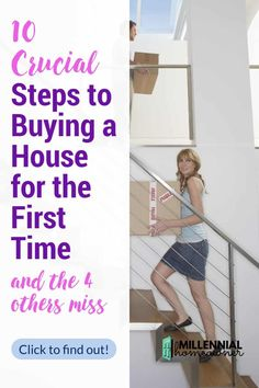 the 10 steps to buying a house for the first time. Here are the steps you need to know and the 4 steps in-between that people forget to do that cost them big time! #homebuying New Home Checklist, Moving Checklist, Moving Tips, Home Buying Tips, Buying Your First Home, How To Find Out, How To Become, Check Your Credit Score, First Time Home Buyers