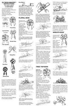 e z bow maker instructions - link no longer works but instructions are in picture Crafty Projects, Diy Projects To Try, Crafts To Make, Diy Crafts, Decor Crafts, Art Projects, Ribbon Crafts, Ribbon Bows, Ribbon Art
