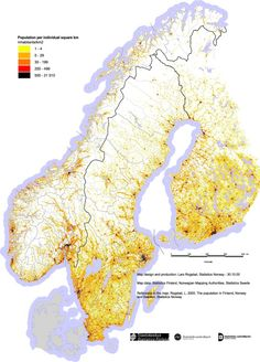 Population density of Norway, Finland and Sweden Pinstripedsuit:Source (BMP) has better pixel-wise detail.