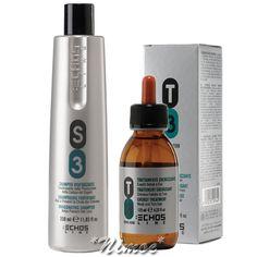 S3 T3 Anti Hair Loss Kit Echos Line ® Anticaduta Shampoo 350ml + Lotion