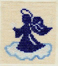 haft krzyżykowy aniołek