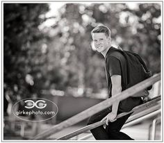 HS Senior portrait on the school campus by girkephoto.com
