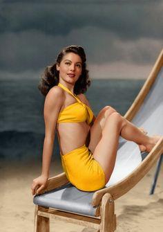 ava gardner #vintage #swim #yellow