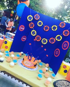 Nerf Gun Birthday Party Tablescape and Decorations