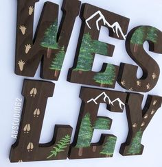 The price of the listing is for INDIVIDUAL LETTERS. When ordering please select the quantity of letters in the NAME, then include the name in the note to seller section of the checkout page. Natural Pine 8 Wooden letters, which are hand stained on all sid