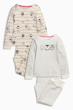 Buy Two Pack Grey Owl Stripe Pyjamas (3-16yrs) from the Next UK online shop