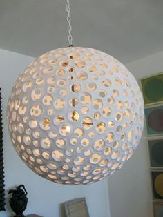 Annika Pierced Round Resin Chandelier Requires 460W Bulbs Includes Canopy…