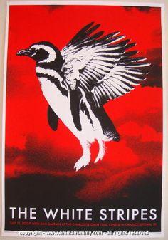 2007 The White Stripes - Charlottetown Concert Poster Rob Jones