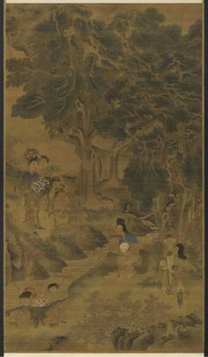 Goddess Magu (Hemp Maiden). Yuan dynasty (1271–1368). Hanging scroll, ink and…