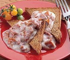 Creamed Chipped Beef on Toast Recipe-my mom makes something like this but with spam and olives..yum