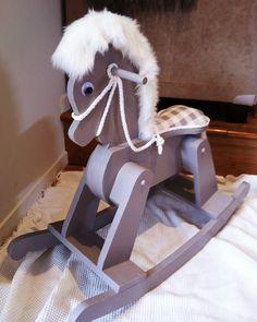 Restored Wooden Rocking Horse