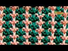 Cómo Tejer Punto Bordado en Colores-Embroidery Stitches Colors-2 Agujas (318) - YouTube