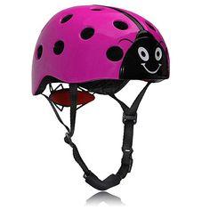 Dostar Kids Multi-sport Adjustable Cute Ladybug Helmet –Safety Comfort Cycling Skateboarding Skating Durable Kids Bike Helmets for 3 to 12 Years old Boys/Girls (Purple) Mountain Bike Reviews, Best Mountain Bikes, Toddler Bike Helmet, Scooter Helmet, Kids Bike Accessories, Single Speed Mountain Bike, Kids Helmets, New Helmet, Mountain Bike Helmets