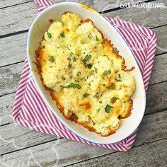 Low Carb Rezept für einen leckeres Low-Carb Blumenkohl-Gratin. Wenig Kohlenhydrate und einfach zum Nachkochen. Super für Diät/zum Abnehmen.