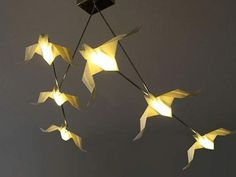 Lampada Origami Di Edward Chew : Best origami lamps images transitional chandeliers paper