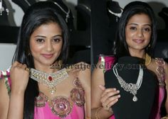 Jewellery Designs: Priyamani Launches Jos Alukkas Jewellery