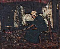 Vrouwtje bij het vuur Suze Robertson
